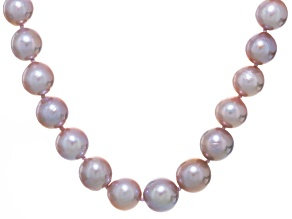 natural multi-pink cultured Kasumiga pearl 14k white gold necklace