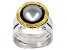 Silver Cultured Freshwater Pearl Sterling Silver With 14k Yellow Gold Over Accent Ring