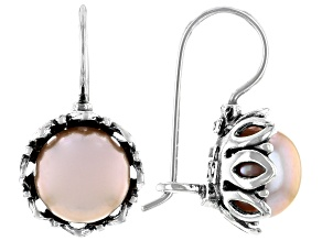 Pink Cultured Freshwater Pearl Sterling Silver Earrings