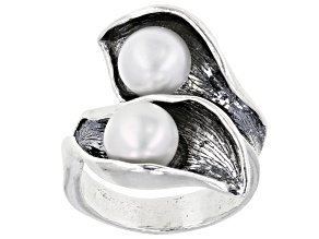 White Cultured Freshwater Pearl Sterling Silver Ring