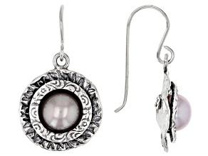 Pink Cultured Freshwater Pearl Sterling Silver Earrings