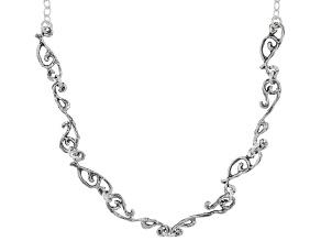 Sterling Silver Designer 18 Inch Necklace
