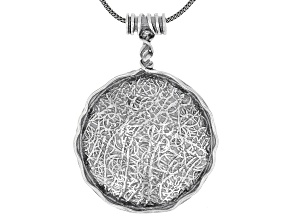 Sterling Silver Medallion 18 Inch Necklace