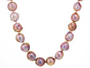 Multi-Lavender Cultured Freshwater Pearl 14k White Gold Necklace 18 inch