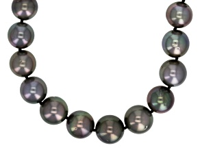 Cultured Tahitian Pearl Sterling Silver Strand Necklace 18 inch