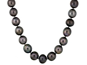 Cultured Tahitian Pearl Sterling Silver Strand Necklace 20 inch