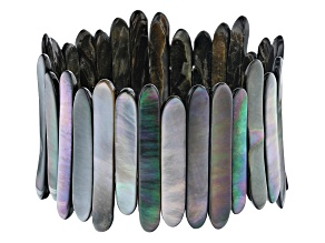 Tahitian Mother-of-Pearl Reversible Stretch Bracelet
