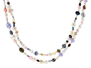 Multi-Color Cultured Freshwater Pearl 48 Inch Endless Strand Necklace