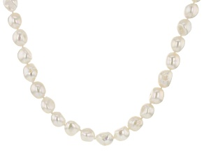 White Cultured Freshwater Pearl 36 Inch Endless Strand Necklace
