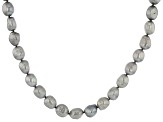 Silver Cultured Freshwater Pearl 36 Inch Endless Strand Necklace