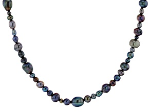 Black Cultured Freshwater Pearl 36 Inch Endless Strand Necklace