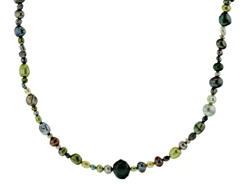 Picture of Green Cultured Freshwater Pearl 36 Inch Endless Strand Necklace