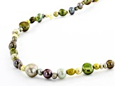 Green Cultured Freshwater Pearl 36 Inch Endless Strand Necklace