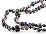 Black Cultured Freshwater Pearl 61 Inch Endless Strand Necklace