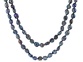 Black Cultured Freshwater Pearl 64 Inch Endless Strand Necklace