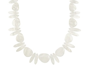 White Mother-of-Pearl 19.5 Inch Necklace