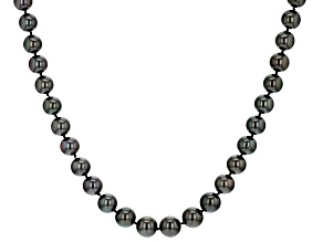 Cultured Tahitian Pearl 14k Yellow Gold 18 Inch Strand Necklace