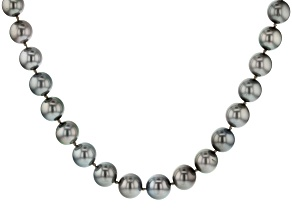 Platinum Cultured Tahitian Pearl 14k Yellow Gold 18 Inch Strand Necklace