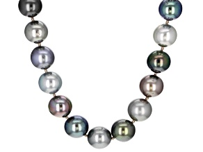 Multi-Color Cultured Tahitian Pearl 14k Yellow Gold 18 Inch Strand Necklace