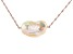 Natural Color Cultured Freshwater Pearl 18k Rose Gold Over Silver Necklace