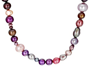 Multi-Color Cultured Freshwater Pearl 36 Inch Endless Strand Necklace