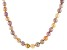 Multi-Color Cultured Freshwater Pearl Rhodium Over Sterling Silver 24 Inch Necklace