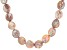Coin Pink Cultured Freshwater Pearl Rhodium Over Sterling Silver 20 Inch Necklace