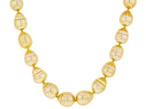 Golden Cultured South Sea Pearl 14k Yellow Gold Over Sterling Silver 18 Inch Strand Necklace