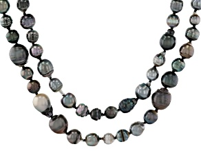 Cultured Tahitian Pearl 64 Inch Endless Strand Necklace