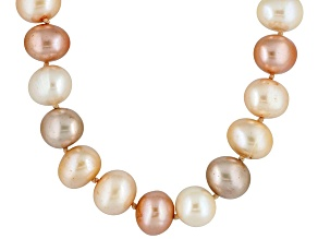 Multicolor Cultured Freshwater Pearl Gold Over Silver 18