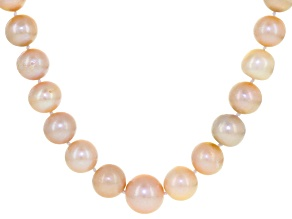 Multi-Color Cultured Freshwater Pearl Sterling Silver Necklace 18 inch