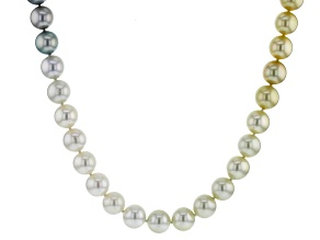 Multi-Color Cultured Tahitian And South Sea Pearl 32 Inch Endless Strand Necklace 11-11.5mm