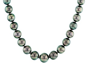 Cultured Tahitian Pearl 14k Yellow Gold 18 Inch Strand Necklace 11-15mm