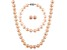 7-7.5mm Pink Cultured Freshwater Pearl Sterling Silver Jewelry Set