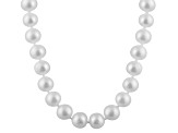 9-9.5mm White Cultured Freshwater Pearl 14k White Gold Strand Necklace 18 inches