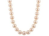 9-9.5mm Pink Cultured Freshwater Pearl 14k White Gold Strand Necklace 16 inches
