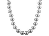 7-7.5mm Silver Cultured Freshwater Pearl 14k White Gold Strand Necklace