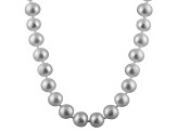 6-6.5mm Silver Cultured Freshwater Pearl Sterling Silver Strand Necklace
