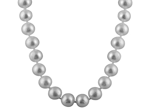 6-6.5mm Silver Cultured Freshwater Pearl 14k White Gold Strand Necklace