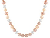 11-11.5mm  Cultured Freshwater Pearl Sterling Silver Strand Necklace 18 inches