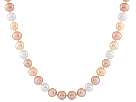 10-10.5mm  Cultured Freshwater Pearl 14k Yellow Gold Strand Necklace 28 inches