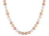 10-10.5mm  Cultured Freshwater Pearl 14k White Gold Strand Necklace 24 inches