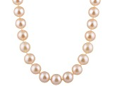 7-7.5mm Pink Cultured Freshwater Pearl Sterling Silver Strand Necklace 28 inches