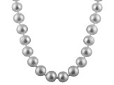 6-6.5mm Silver Cultured Freshwater Pearl 14k Yellow Gold Strand Necklace