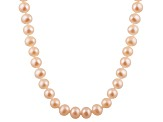 6-6.5mm Pink Cultured Freshwater Pearl 14k White Gold Strand Necklace 20 inches