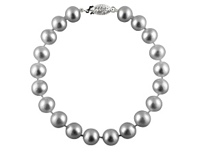 11-11.5mm Silver Cultured Freshwater Pearl Sterling Silver Line Bracelet 7.25 inches