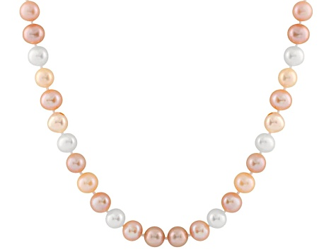 11-11.5mm  Cultured Freshwater Pearl 14k White Gold Strand Necklace 20 inches