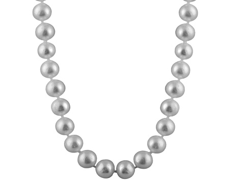 10-10.5mm Silver Cultured Freshwater Pearl 14k Yellow Gold Strand Necklace