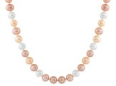 10-10.5mm Cultured Freshwater Pearl 14k White Gold Strand Necklace 16 inches
