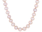 11-11.5mm Purple Cultured Freshwater Pearl 14k Yellow Gold Strand Necklace